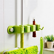 1 adet kullanışlı saklama mutfak temizlik aracını raf paspas, fırça süpürge organizatör tutucu askı