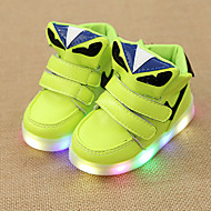 Sneakers Spring Summer Fall Light Up Shoes Comfort First Walkers Leatherette Outdoor Athletic Casual Low Heel LED Hook & Loop