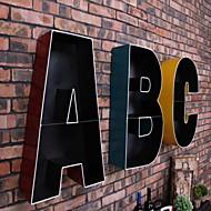 Wall Decor Iron Modern Wall Art Letter ABC Holder