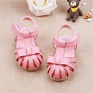 Белый Розовый-Дети-Для прогулок Повседневный-Кожа-На низком каблуке-Обувь для малышей-На плокой подошве