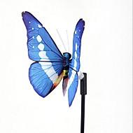 solar luzes coloridas levou fibra borboleta luzes decorativas