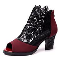 Sapatos de Dança(Preto Vermelho) -Feminino-Não Personalizável-Moderna