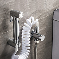 Bidet Faucets  ,  Traditional Modern  with  Chrome Single Handle One Hole  ,  Feature  for Wall Mount Pull out