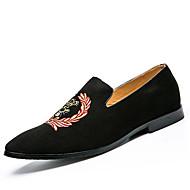גברים-נעליים ללא שרוכים-בד-מוקסיןשטח יומיומי ספורט-עקב שטוח