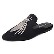 Sandály-PU-PohodlnéČerná-Šaty-Plochá podrážka