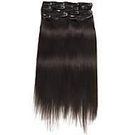 9pcs / set deluxe 120g klip na prodlužování vlasů přírodní černá 16inch 20inch 100% lidské vlasy pro ženy