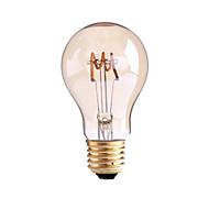 4W B22 E26/E27 LED žárovky s vláknem G60 1 COB 400 lm Teplá bílá Stmívací AC 220-240 AC 110-130 V 1 ks