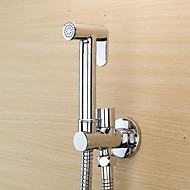 Bidet Faucets  ,  Modern  with  Chrome Single Handle One Hole  ,  Feature  for Wall Mount Pull out
