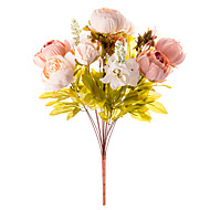 1 Κλαδί Μετάξι Παιώνιες Λουλούδι για Τραπέζι Ψεύτικα λουλούδια 50 x 30 x 30(19.69'' x 11.81'' x 11.81'')