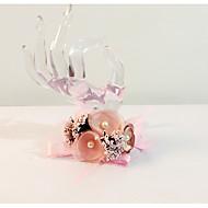 """פרחי חתונה תפור ביד בצורה חופשיה זר פרחים לפרק כף יד חתונה חתונה/ אירוע שיפון פרחים מיובשים 6.69""""(לערך.17ס""""מ)"""