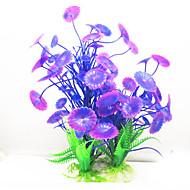 수족관 장식 수중식물 모형 플라스틱 퍼플