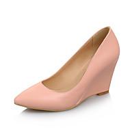 Γυναικεία παπούτσια-Τακούνια-Γραφείο & Δουλειά Φόρεμα Πάρτι & Βραδινή Έξοδος-Ενιαίο Τακούνι-Παπούτσια club-PU-Μαύρο Ροζ Μωβ Κόκκινο Άσπρο
