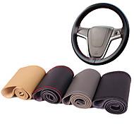 autoyouth mikroszálas bőr autó kormánykerék fedél univerzális fit diy fedél varrás stílusú autó-styling belső tartozék