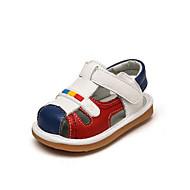 赤ちゃん フラット 赤ちゃん用靴 PUレザー 春 秋 カジュアル ウォーキング 赤ちゃん用靴 面ファスナー フラットヒール ベージュ レッド フラット