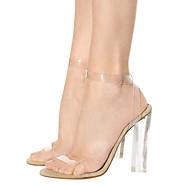 נשים-עקבים-גומי חומרים בהתאמה אישית-נעלי מועדון נעליים שקופותחתונה שמלה מסיבה וערב-עקב עבה