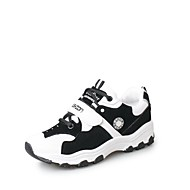 Women's Athletic Shoes Spring Summer Comfort Suede Outdoor Casual Athletic Flat Heel Buckle Lace-up White Black Pink Running