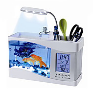 Mini-akvaariot Taustakuvat Koristeet Keinotekoinen Kytkimillä Muovi Maalattu Valkoinen