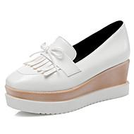 Dame-PU-KilehælFlate sko-Kontor og arbeid Formell Fritid-Hvit Svart Burgunder