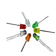 (1000pcs Farbe zufällig) LED-Licht-emittierende Dioden ultra-hohe Helligkeit hohe Temperatur 3/5 mm inline