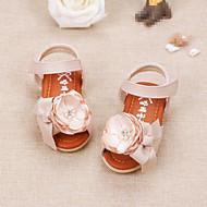 赤ちゃん フラット 赤ちゃん用靴 レザーレット 夏 カジュアル ウォーキング 赤ちゃん用靴 面ファスナー ローヒール ベージュ ピンク フラット