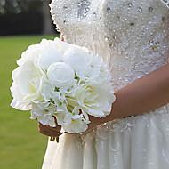 """פרחי חתונה עגול ורדים זרים חתונה משי 7.87""""(לערך.20ס""""מ)"""