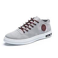 Sneakers-Kanvas-Komfort Lysende såler-Herrer-Sort Blå Rød Grå-Udendørs Fritid-Flad hæl
