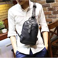 Masculino Couro Ecológico benzóico Sling sacos de ombro