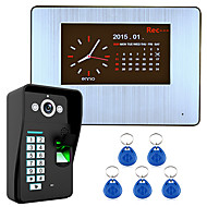 7 LCD-opname hd 1000tvl dvr vingerafdrukherkenning video deurtelefoon intercom systeem kit