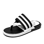 Herren-Slippers & Flip-Flops-Outddor Lässig-Leder-Flacher Absatz-Komfort Leuchtende Sohlen
