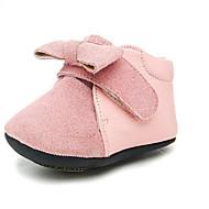 Jente Baby Flate sko Første gåsko Kunstlær Sommer Avslappet Gange Første gåsko Magisk teip Lav hæl Lys Rosa Flat