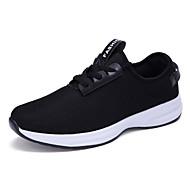 男性-カジュアル-チュール-フラットヒール-カップルの靴-アスレチック・シューズ-ブラック ブルー ホワイト