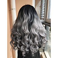 2017 Sylvia Synthetic Lace Front Wig Black To Grey Curly Heat Resistant Free Wig Net  Synthetic Wigs