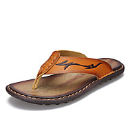 Summer Men Leather Sandals Flip Flops Comfortable Classic Beach Slippers Massage Casual Flip flops