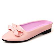 Damen-Flache Schuhe-Outddor Kleid Lässig-Lackleder-Flacher Absatz-Andere-Weiß Schwarz Rosa