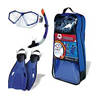Snorkelpakker Dykking og snorkling PVC Plast Silikon Blå