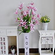 1 Větev Vlákno Lilie Květina na stůl Umělé květiny 60*3*120