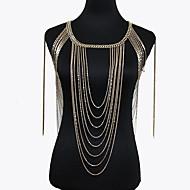 Dámské Tělové ozdoby Tělo Chain / Belly Chain příroda Módní Bohemia Style Slitina Zlatá Šperky Pro Zvláštní příležitosti Ležérní 1ks