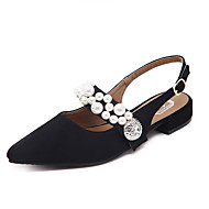 Ženske Ravne cipele Proljeće Udobne cipele Flis Formalne prilike Ravna potpetica Umjetni biser Crn Pink