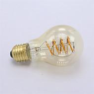 4W E26/E27 Izzószálas LED lámpák A60(A19) 1 COB 400 lm Meleg fehér Állítható Dekoratív AC 220-240 V 1 db.