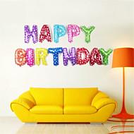 13pcs / set 16inch feliz aniversário da letra do alfabeto balões multi balões folha cor do partido