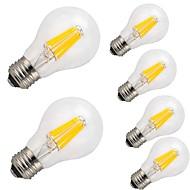 12W E26/E27 LED-hehkulamput A60(A19) 12 COB 1000 lm Lämmin valkoinen Kylmä valkoinen Koristeltu AC 220-240 V 6 kpl
