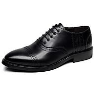 Oxfordské-Kůže-Mokasíny lehké Soles Bullock boty pár Boty Společenské boty Pohodlné-Pánské--Svatba Kancelář Party-Plochá podrážka