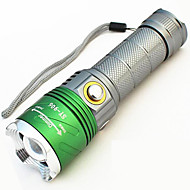 照明 LED懐中電灯 ブラックライト・フラッシュライト 携帯式フラッシュライト LED 500 ルーメン 4.0 モード - LED 18650 26650 焦点調整可 防水 充電式 偽札鑑別機 キャンプ/ハイキング/ケイビング 日常使用 サイクリング 狩猟 多機能 屋外