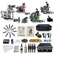 Kompletan Tattoo Kit 2 x čelične tetovaža stroj za obloge i sjenčanje 2 x legure tetovaža stroj za obloge i sjenčanje 3 Tattoo Machines