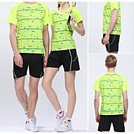 Set di vestiti/Completi-Attività ricreative Badminton-Unisex-Traspirante Asciugatura rapida Comodo-Verde Rosso