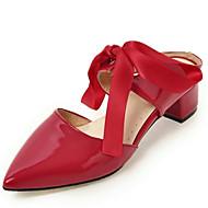 Femme-Bureau & Travail Habillé Décontracté--Gros Talon Block Heel-Nouveauté A Bride Arrière club de Chaussures-Sabots & Mules-Cuir Verni