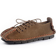 Oxfords Spring Summer Fall Winter Comfort Suede Outdoor Office & Career Party & Evening Casual Split Joint Blue Brown