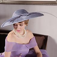 Feather Flax Velvet Headpiece-Wedding Special Occasion Outdoor Fascinators Hats 1 Piece