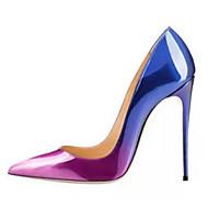 Damen-High Heels-Hochzeit Outddor Kleid Lässig Party & Festivität-PU-Stöckelabsatz-Komfort Neuheit Club-Schuhe-Grau Purpur Rot Blau