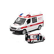 救急車 プルバック式乗り物おもちゃ 1時32分 プラスチック アイボリー